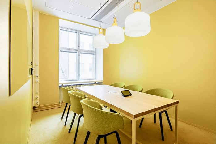 The Yellow room at Microsoft Flux can be booked only 30 minutes at a time. Photo: Microsoft Flux