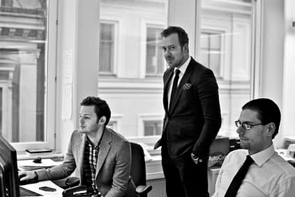 The Finnish company Studentwork has been granted exclusive rights to use the Talent Q method for measuring aptitude and personality traits. Studentwork employees Andreas Dajen, Joel Grännby and Axel Kvarmbäck pictured.