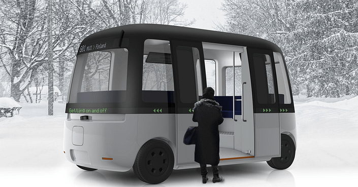 Sensible 4 autonomous shuttle bus