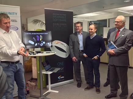 Carl XVI Gustaf visited HealthSpa in December 2014.