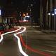 Smart pedestrian crosswalk by night