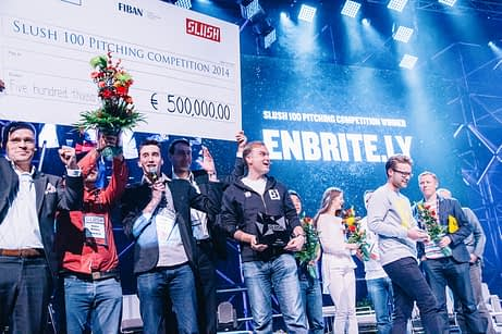 Startup Sauna Fall '14 alumni Enbrite.ly won Slush 2014 pitching competition.