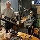 Mikko Valtonen and Petteri Kontio in their manufacturing facilities in Espoo.