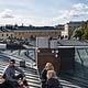 People on the roof in Helsinki