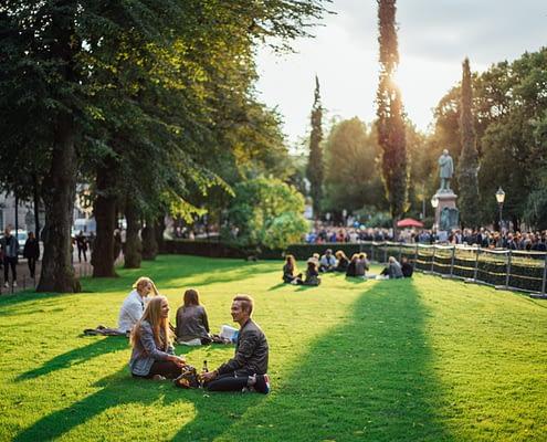 Esplanade Park during Helsinki Festival