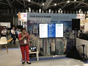 Irma Ylikangas presenting at SWITCH Singapore