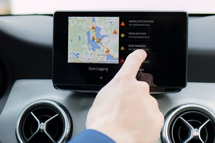 Ficonic has developed a software that allows motorists to use on-line services in a safe way. Photo: Ficonic Solutions