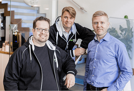 Lack of experience won't be an issue for the world's first wearable games studio, Everywear Games. Its founders Markus Tuppurainen (left), Aki Järvilehto, and Mika Tammenkoski have worked in the gaming industry for over 50 years combined. Photo: Everywear Games.