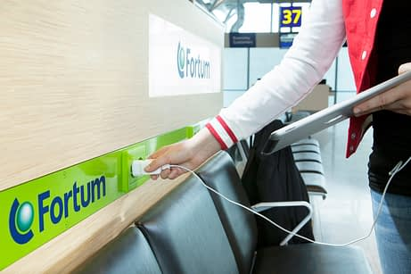 Charging at Helsinki airport. Photo: Fortum